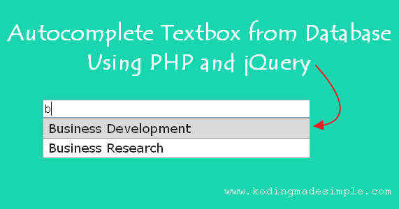 Autocomplete Textbox from Database in PHP, jQuery and MySQL