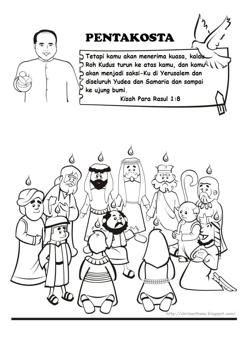 Sekolah Minggu Ceria: Pentakosta hari turunnya Roh Kudus