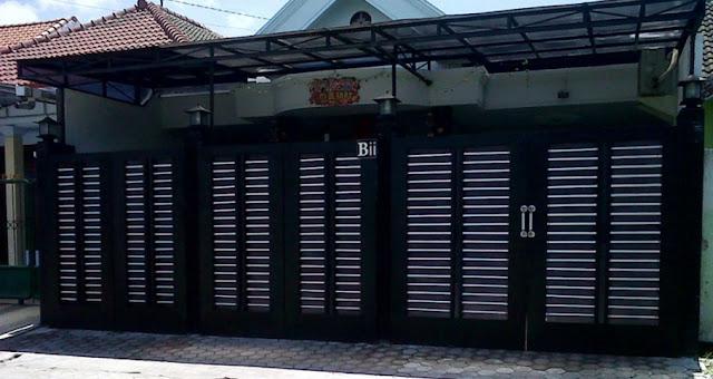 warna cat pagar hitam minimalis modern terbaru