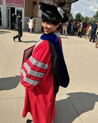 picture of me Oindree Banerjee at my graduation ceremony used on blog post how to finish your phd and graduate on blog how to phd