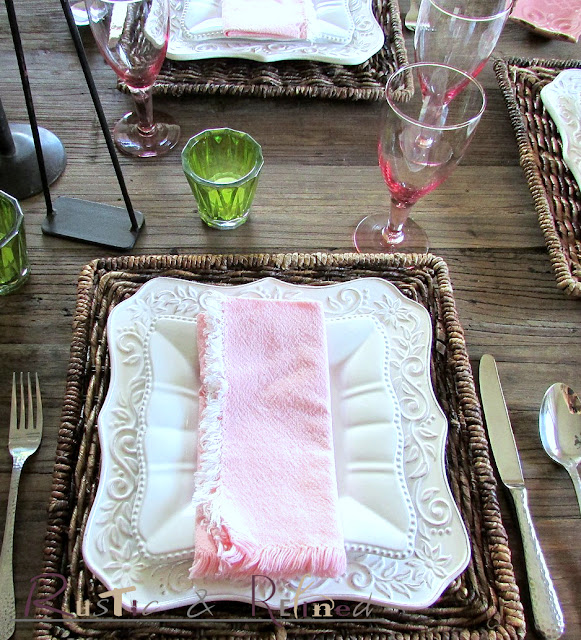 Pink & White Spring Tablescape Ideas