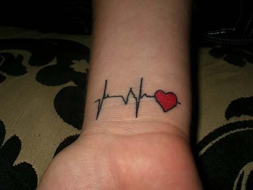 kalp ritmi bilek dövmeleri bayan life line wrist tattoos for women