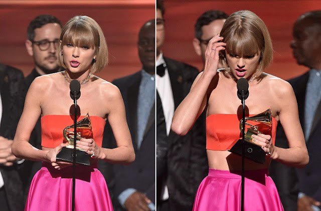 Taylor Swift le envía indirecta a Kanye West en los Grammy 2016.