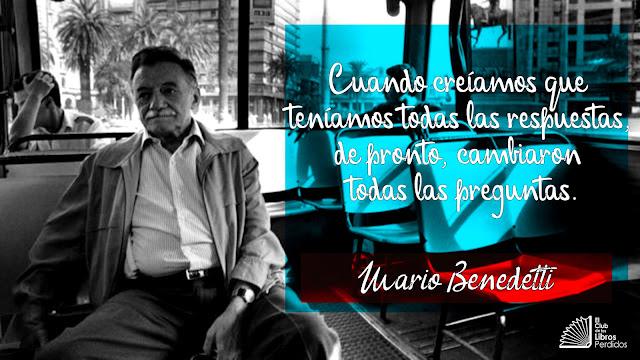 CITAS, frases, Mario Benedetti, el club de los libros perdidos,