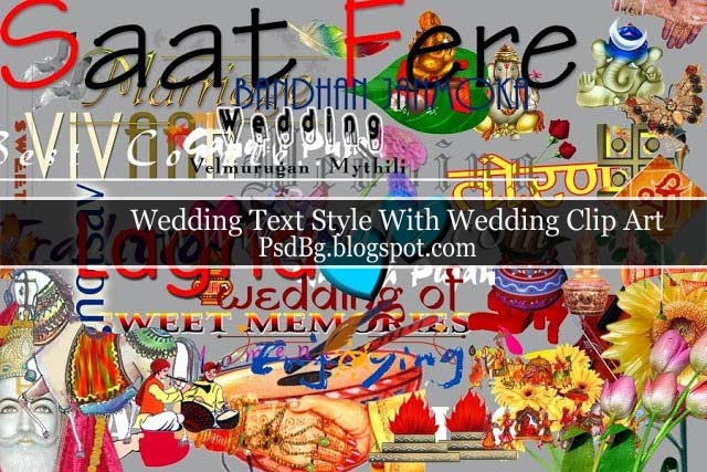 Wedding Text Style With Wedding Clip Art