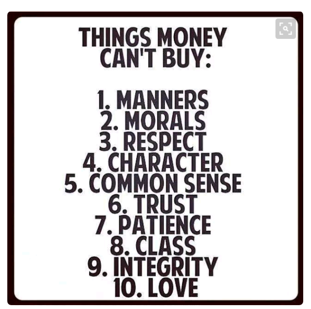 Antara 10 benda DUIT tak boleh beli