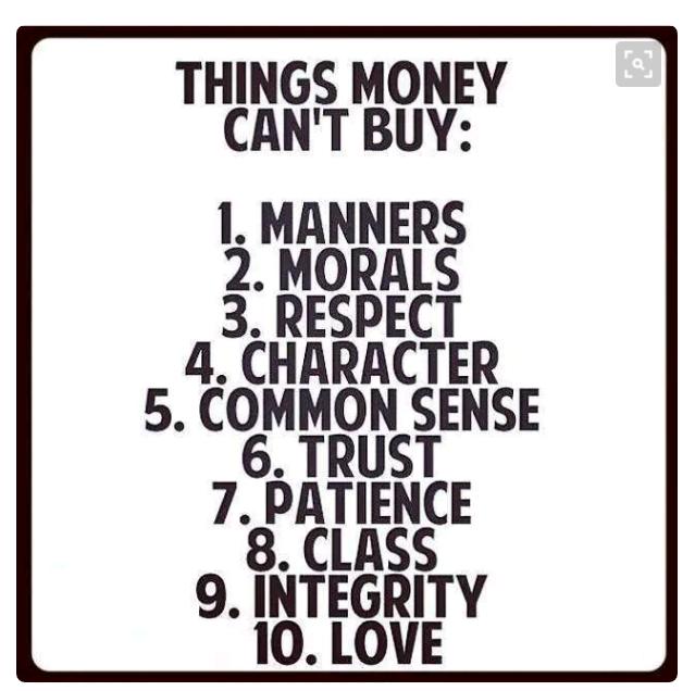 Perkara yang DUIT tidak boleh beli