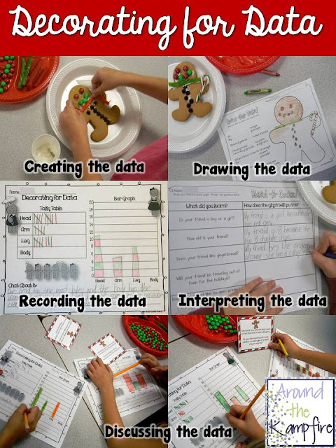 Gingerbread man data and graphing project
