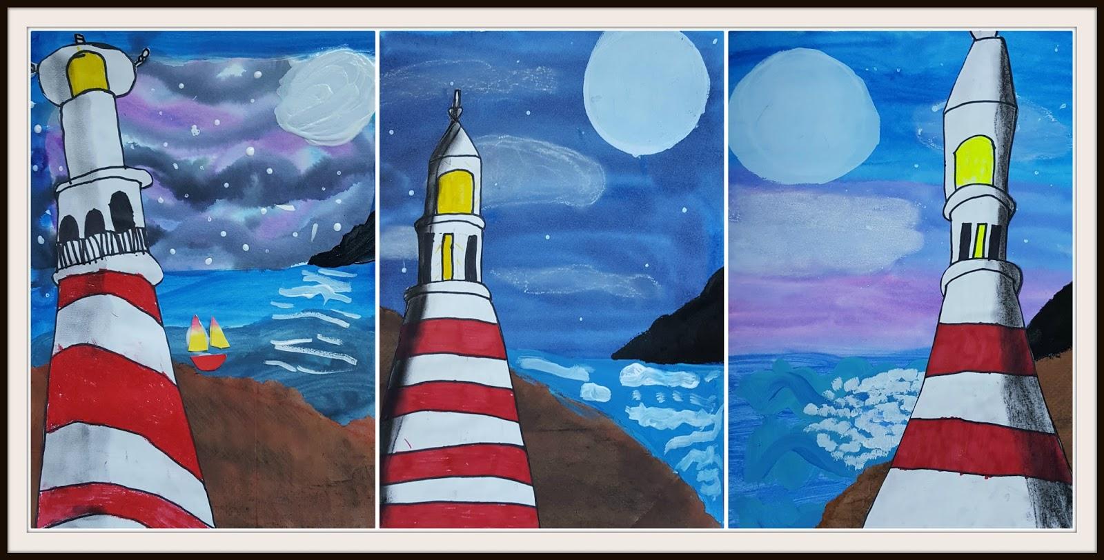 Marymaking Mixed Media Lighthouse Art Lesson