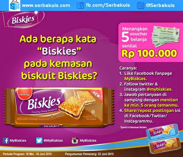 Kuis Facebook Biskies Berhadiah 5 Voucher Belanja 100K