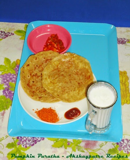 pumpkin paratha is ready to serve