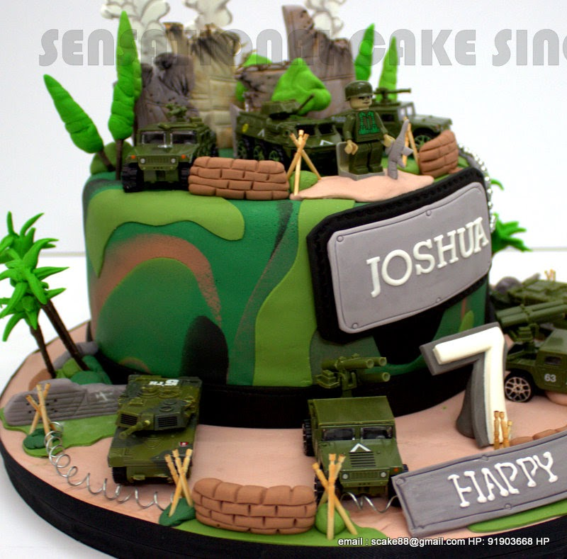 The Sensational Cakes Camouflage 1 Tier Birthday Cake