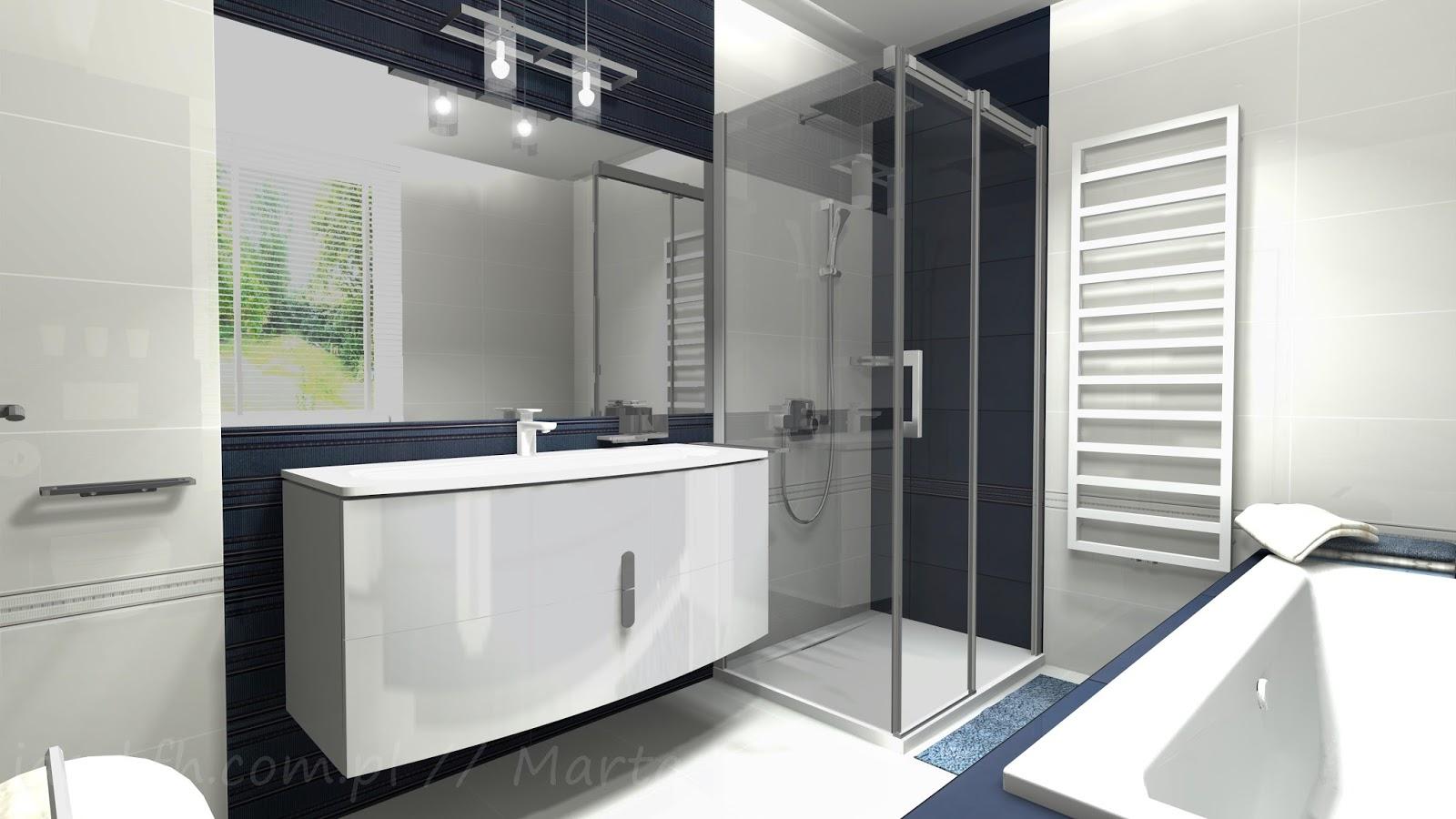 Projekty łazienek Abisso łazienka 69 M2