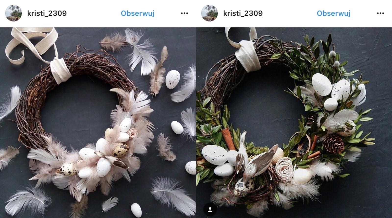 Dekoracje Wielkanocne Wianki Wielkanocne Inspiracje Wielkanocne