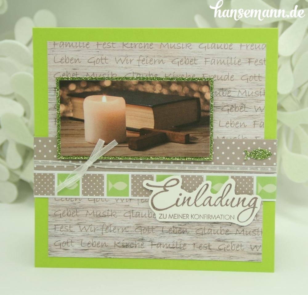 einladungskarten zur konfirmation kommunion made by. Black Bedroom Furniture Sets. Home Design Ideas
