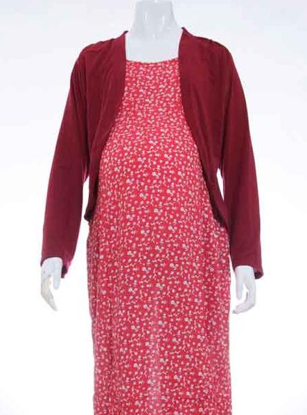 Gambar Model Baju Mulsim Batik Gamis Untuk Ibu Menyusui