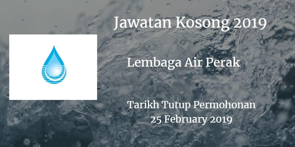 Jawatan Kosong Lembaga Air Perak 25 February 2019