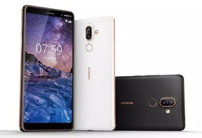 Nokia 7 plus white and black