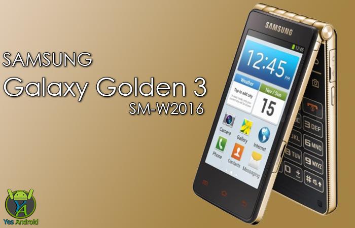 W2016KEU1AQB2 | Galaxy Golden 3 SM-W2016
