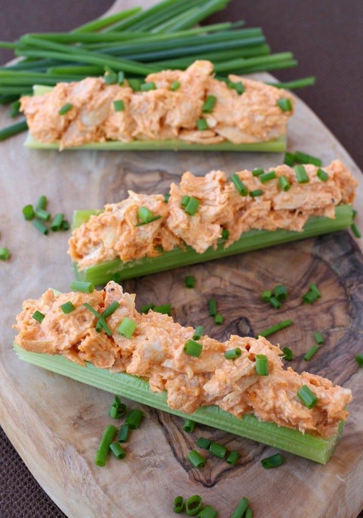 Buffalo Chicken Celery Sticks – Diabetic