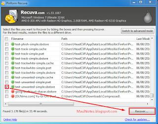 maulnotes.blogspot.com-Mengembalikan file yang hilang dengan Recuva