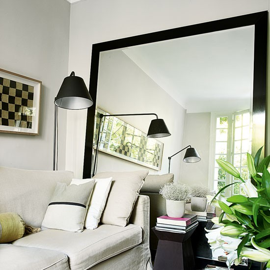 Decorate Living Rooms With Mirrors