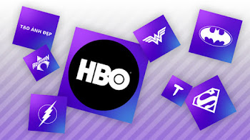 Tạo logo background gradient HBO Max