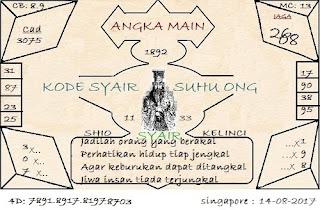 SYAIR SGP, TOGEL SINGAPORE, PREDIKSI TOGEL DAN BOCORAN ANGKA JITU SGPSENIN