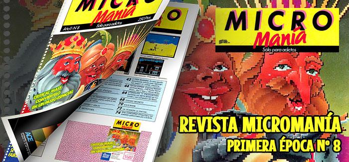 Revista Micromanía Primera época Número 8 1986