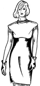 Моделирование платьев путем перевода вытачек. Часть3