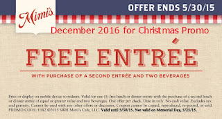 Mimis Cafe coupons december 2016