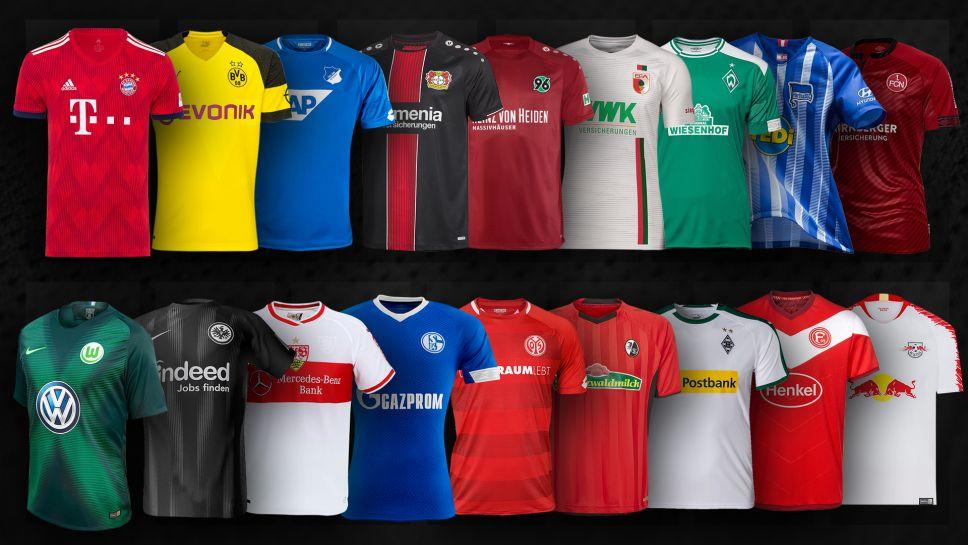 b713a68472 Confira todas as camisas titulares dos clubes do Campeonato Alemão 2018 19