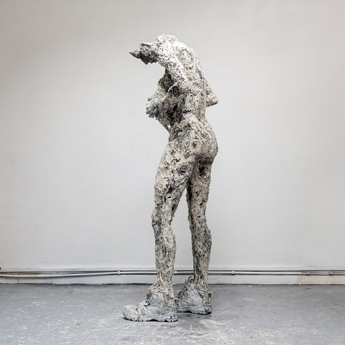 "Anna Gillespie, ""Running on Empty"" - plaster, resin, mixed media 