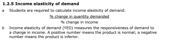 Ian S A S Business Blog Income Elasticity Of Demand