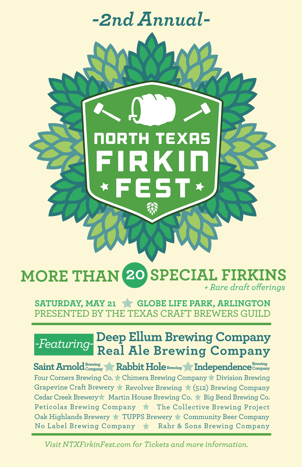 North texas firkin fest returns to globe life park may 21 for Texas craft brewers festival