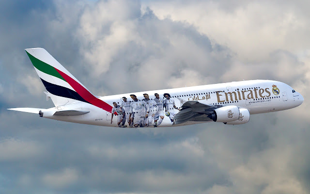 Airbus A380-800 of Emirates Real Madrid