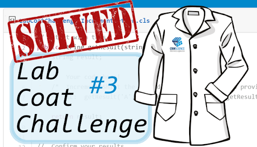 Lab Coat Coat Challenges:  Challenge #3 Responses! ~ CRM Science