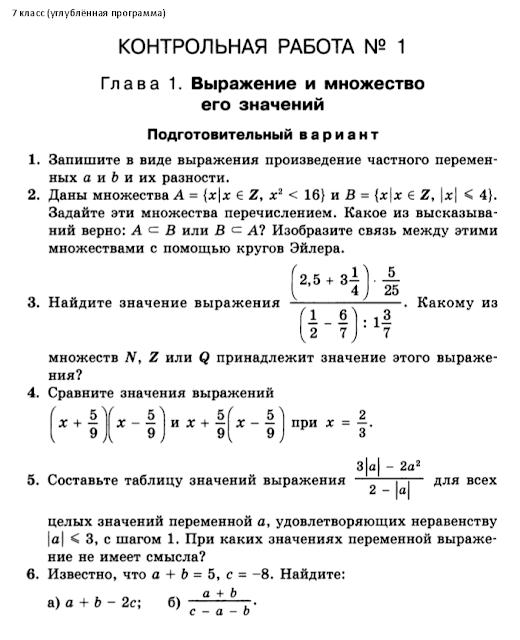 Класс гдз макарычев феоктистов дидактические материалы 7