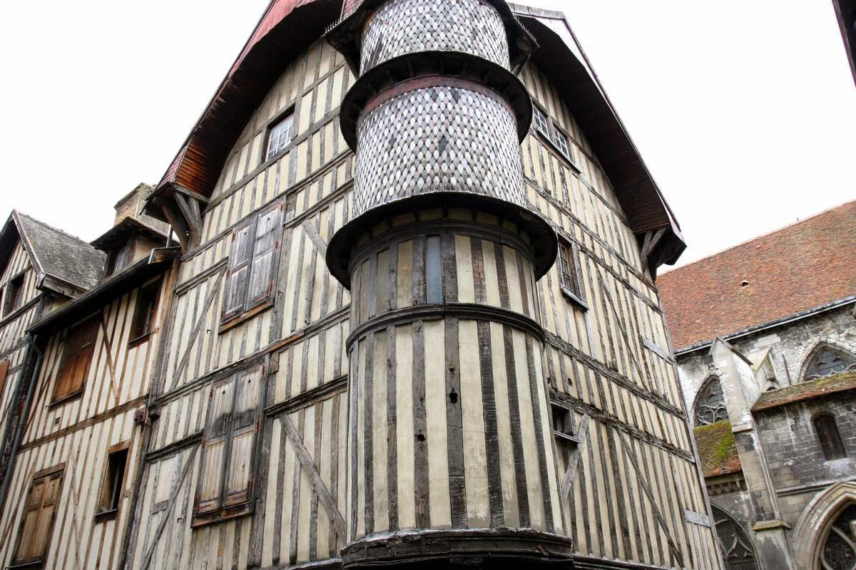 Vakwerkhuis in Troyes, Frankrijk