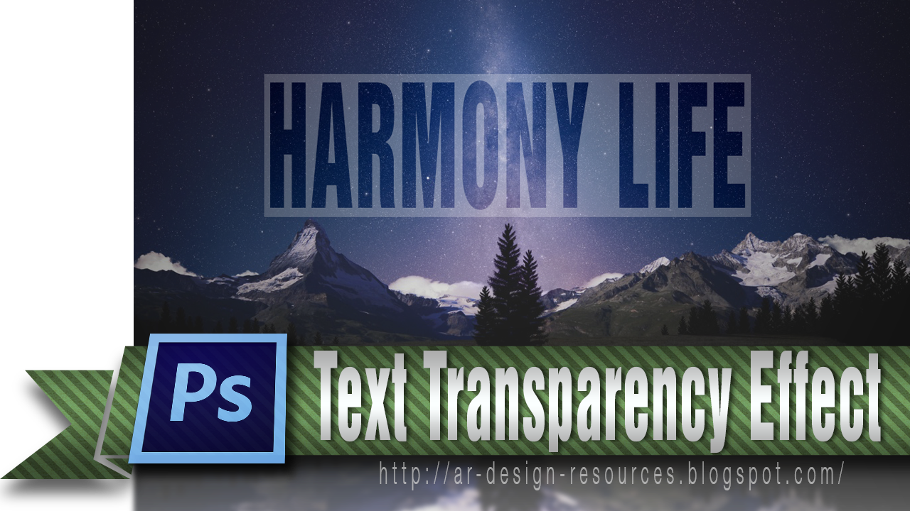 Text Transparency Effect | Adobe Photoshop Tutorial