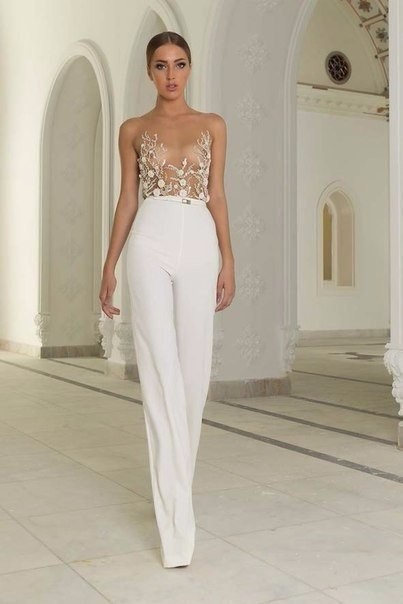 K'Mich Weddings - wedding dress -  pantsuit - Abed Mahfouz