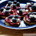 Red White and Blue Savory Appetizer: Beet, Blueberry and Goat Cheese Rounds