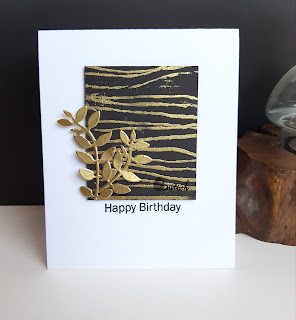 Inspired by Loll, Rubber band technique, CAS card, die cutting, Birthday card, masculine birthday card, heat embossing, Quillish, cards by ishani