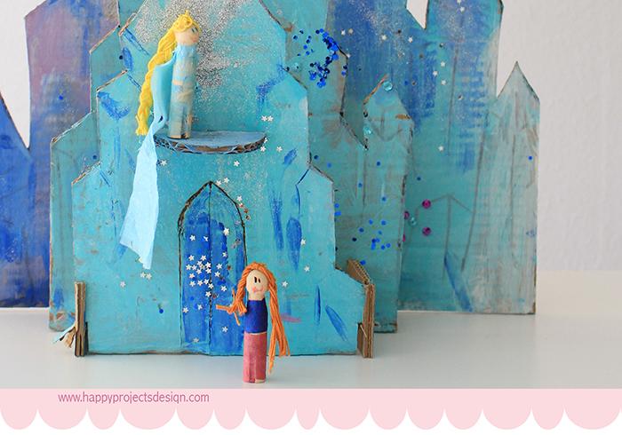 Frozen: muñecas con pinzas vintage de madera