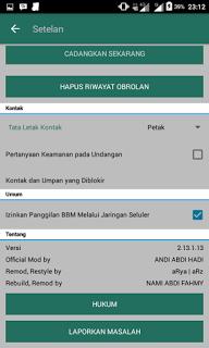 BBM MOD Tema DarkGreen Material Theme v3.0.1.25 Apk Update Terbaru 2016 Gratis