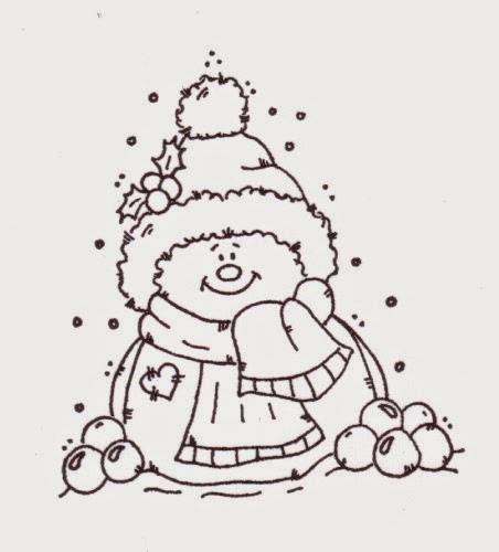 Cute Snowmen Free Printable Coloring