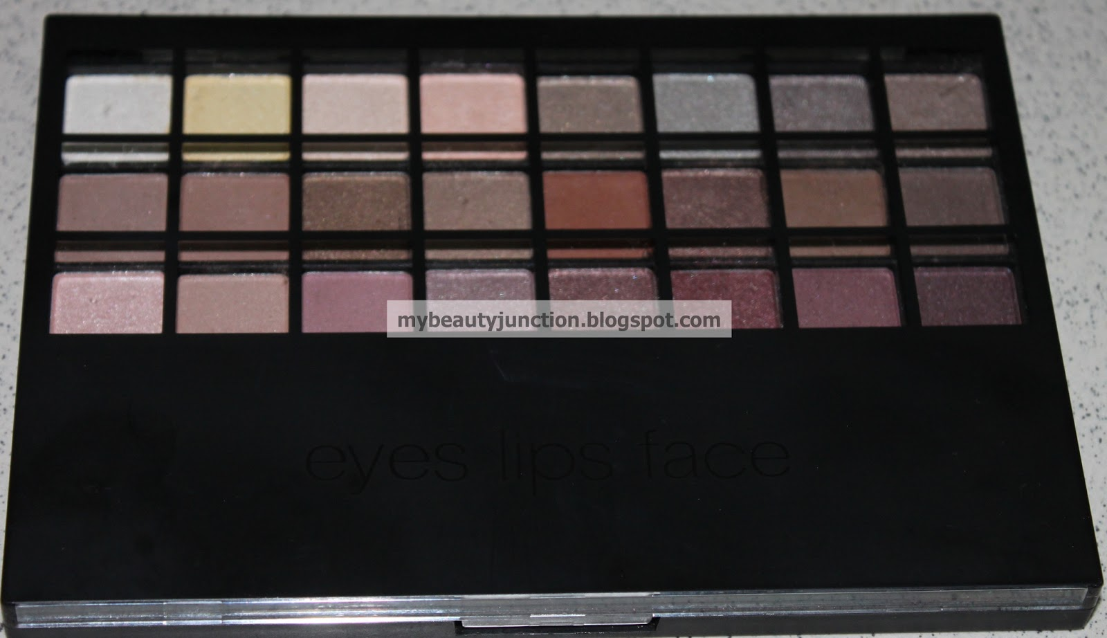 E.L.F. warm 32 piece eyeshadow palette swatches and review