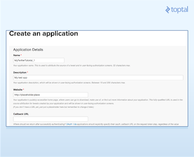 App creation form
