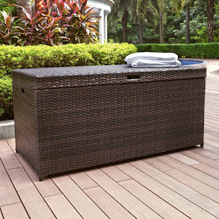 Crosley Outdoor Wicker Storage Bin