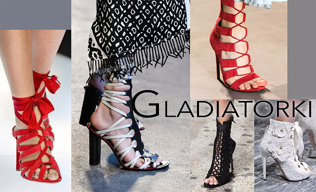 Modne buty 2018 gladiatorki
